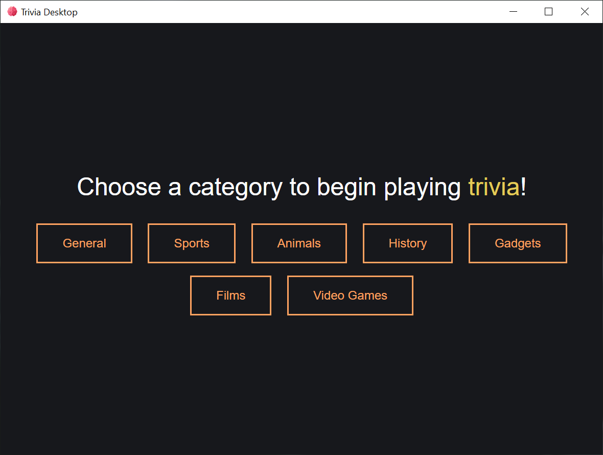 Selecting a category.